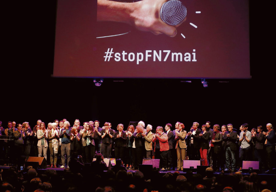 Rassemblement de la culture contre le FN du 2 mai 2017